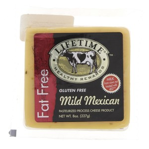 Lifetime Fat Free Mild Mexican Cheese 227g