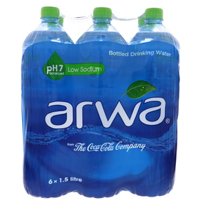 Arwa Bottled Drinking Water 6 x 1.5Litre