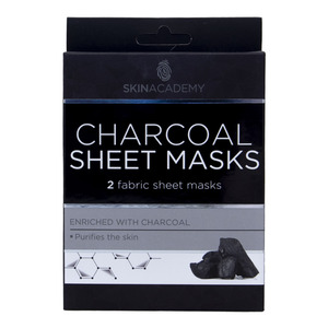 Skin Academy Charcoal Sheet Masks 1pkt