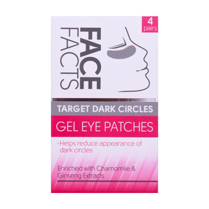 Skin Academy Face Facts Gel Eye Patches Dark Circles 4 Pairs