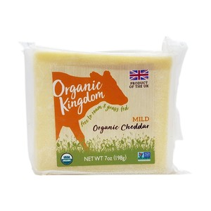 Kingdom Organic Cheddar Cheese Mild 198g