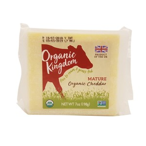 Kingdom Organic Cheddar Cheese Mature 198g