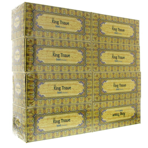 King Facial Tissue 500 Sheets x 8 Pieces
