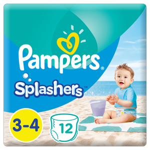Pampers Splashers Swimming Pants, Size 3-4, 6-12 kg, 12 Count