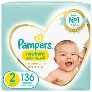 Pampers Premium Care Diapers Our Softest Diaper and The Best Skin Protection Size 2 Mini 3-8kg 136pcs