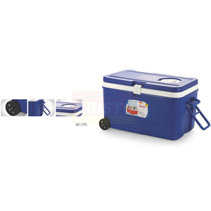 Aristo Cooler Box With Vent Lid Plug & Weel 60Ltr