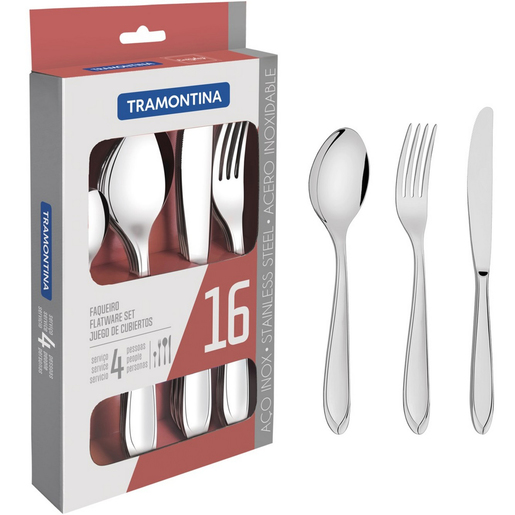 Tramontina Stainless Steel Cutlery Set 16pcs