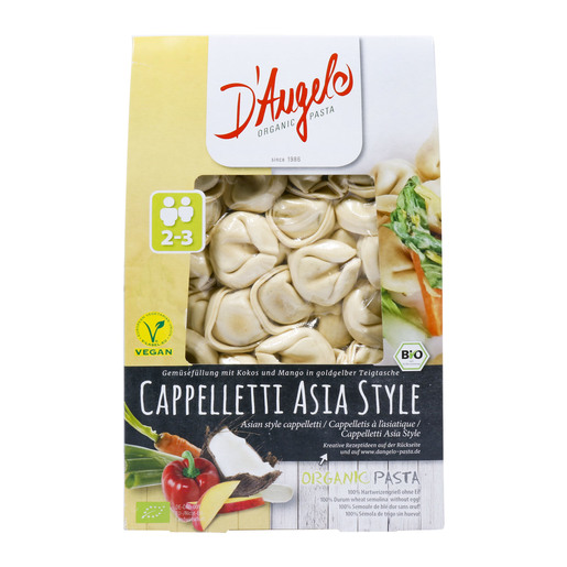 D'Angelo Asian Style Cappelletti Organic Pasta 250g
