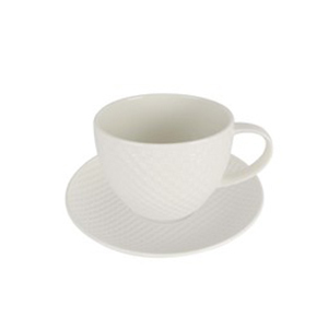 Qualitier Cup & Saucer White 250cc
