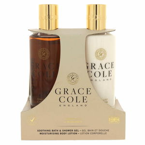 Grace Cole Soothing Bath Shower Gel 300ml + Moisturising Body Lotion 300ml Ginger Lily And Mandarin