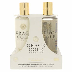 Grace Cole Soothing Bath Shower Gel 300ml + Moisturising Body Lotion 300ml Nectarine Blossom And Grapefruit