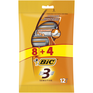 Bic 3 Sensitive Disposable Razor 12pcs