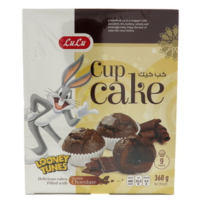Lulu Cup Cake Double Chocolate Filled 360g