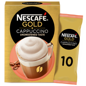 Nescafe Gold Cappuccino Unsweetened Taste Coffee Mix 10 x 14.2g