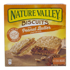 Nature Valley Biscuits With Peanut Butter 4 x 38g