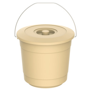 Cosmoplast Bucket With Lid EX-40 10Litre Assorted Color 1pc