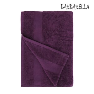 Barbarella Bath Towel Micro Cotton Purple Size: W70 x L140cm