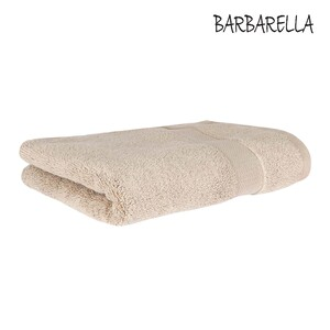 Barbarella Bath Towel Micro Cotton Beige Size: W70 x L140cm