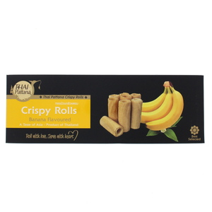 Thai Pattana Crispy Rolls Banana Flavoured 70g