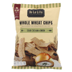 De La Lita Whole Wheat Chips with Sour Cream & Onion 70g