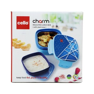 Cello Stainless Steel Lunch Box Feast 700ml