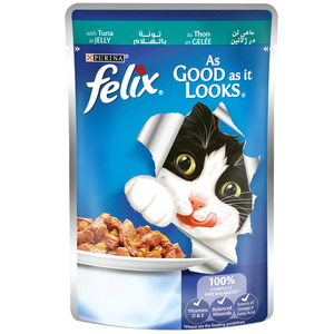 Felix As Good as it Looks Tuna in Jelly Wet Cat Food 100g