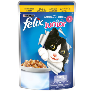 Felix Junior As Good as it Looks Chicken in Jelly Wet Cat Food 100g