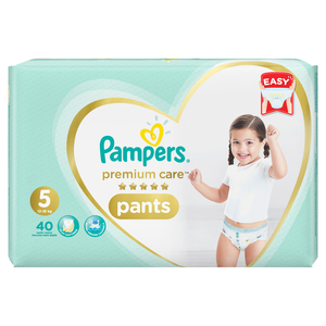 Pampers Premium Care Pants Size 5, 12-18kg 40 Counts