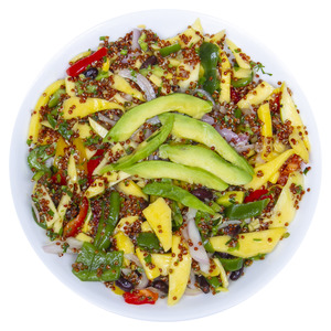 Fresh Quinoa Mango Black Bean And Avocado Salad 400g Approx. Weight