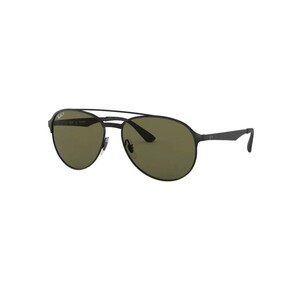 Rayban Men's Sunglass 3606 Pilot Shiny Black On Top Matte Black
