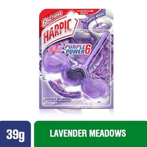 Harpic Toilet Block Purple Power 6 Lavender Meadows 39g