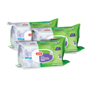 Lulu All Purpose Wipes 3 x 80pcs