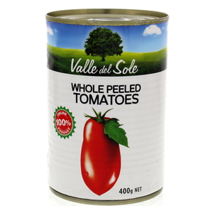 Valle Del Sole Whole Peeled Tomatoes 400g