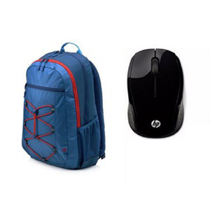 HP Active Back Pack+Wireles Mouse 200