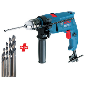 Bosch Professional Hammer Drill GSB1300 + Accessories 5pcs