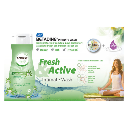 Betadine Intimate Wash Fresh & Active Lemon Verbena 50ml