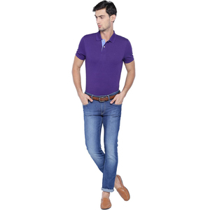 Allen Solly Men's Polo AMKP1G002491 Purple Medium