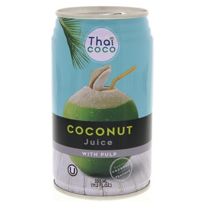 Thai Coco Coconut Juice With Pulp 330ml