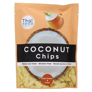 Thai Coco Coconut Chips Sour Cream And Onion 40g