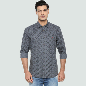 Louis Philippe Men's Casual Printed Shirt LS LRSFCSLFX31728