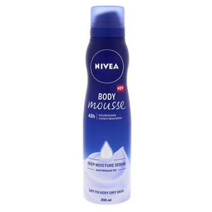 Nivea Body Mousse Deep Moisture Serum & Almond Oil 200ml