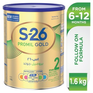 Wyeth Nutrition S26 Promil Gold Stage 2 6-12 Months Premium Follow On Formula for Babies Tin 1.6kg