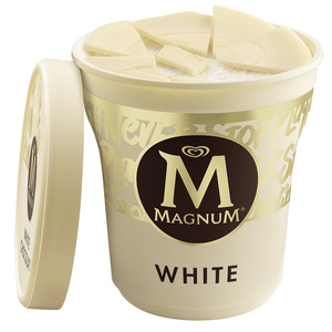 Magnum Ice Cream Tub White 440ml