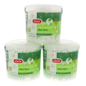 Lulu Aloe Vera Cotton Buds Round 3 x 200pcs