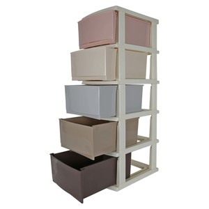 Home Plastic Drawer 5Layer 8815 Assorted Colors