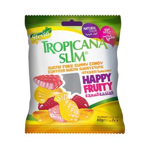 Tropicana Slim Happy Fruity Gummy Candy Sugar Free 80g