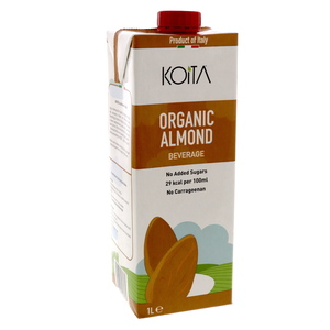 Koita Organic Almond Milk No Added Sugar 1Litre