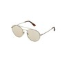 Police Men's Sunglass 728 548FFF Rounded Shiny Grey Gold