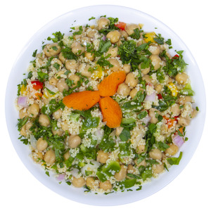 Fresh Burgul And Chickpeas Salad 400g Approx. Weight