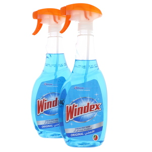 Windex Streak Free Shine Glass Cleaner Original 2 x 750ml